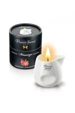 Bougie de massage - Grenadine : Bougie érotique se transformant en huile de massage sensuelle au goût gourmand de grenadine.