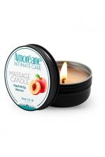 Bougie de massage pêche - Amoreane : Bougie de massage qui offre un parfait environnement chaud et sensuel pour vos moments intimes. Parfum Pêche.