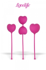 Coffret  3 boules de Kegel Flex - Lot de 3 boules de Kegel en silicone pour exercer les muscles du vagin et du plancher pelvien.
