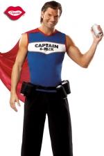 Costume Captain 6-Pack : Costume de super héros au pouvoir indispensable : servir des canettes toujours fraîches !