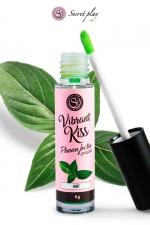Brillant à lèvres stimulant - menthe : Gloss stimulant goût menthe qui fait ressentir de nouvelles sensations aux deux partenaires lors de baisers ou fellations.