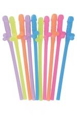 Paquet pailles zizi - 10 pailles  Zizi  aussi coquines qu'humoristiques pour déguster un rafraichissement des plus sirupeux.