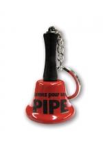 Porte-clés clochette - Sonnez pour une pipe - Agitez la clochette et l'objet de tous vos fantasmes viendra immédiatement vous prodiguer une fellation, ou pas !