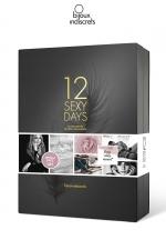 Calendrier sexy 12 jours - Bijoux Indiscrets - Un joli coffret cadeau qui contient 12 surprises pour 12 jours de sensualité, par Bijoux Indiscrets.