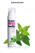 Mousse massage crépitante - menthe - Cosmétique érotique spécial massages sensuels parfum menthe.
