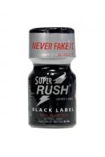 Poppers Super Rush Black Label 9 ml - Arôme liquide aphrodisiaque (flacon de 10 ml)à base de Nitrite de Penthyl (le plus fort), pour aromatiser votre pièce.